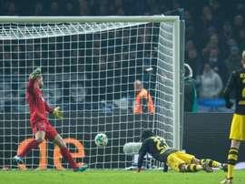 El Borussia empató a uno ante el Hertha de Berlín. AFP