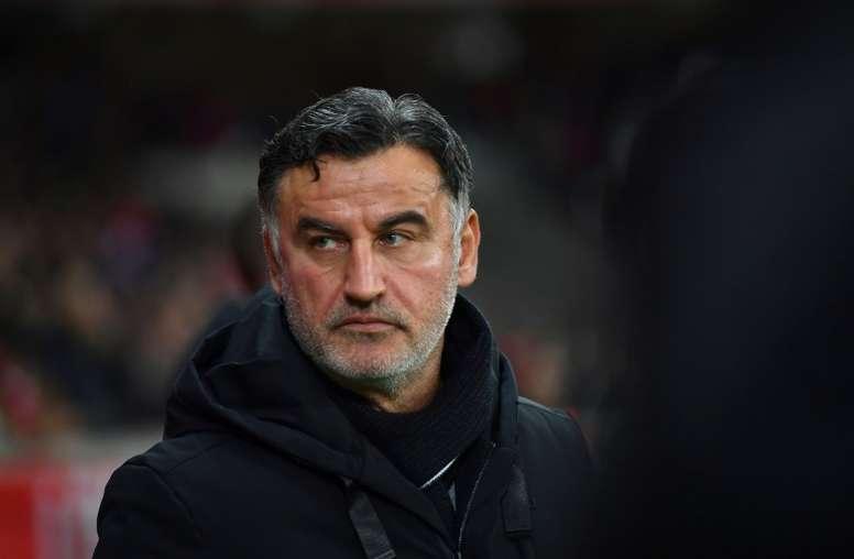 Galtier frustré après le match nul contre l'OM. AFP