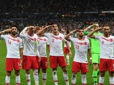 Saluts militaires: l'UEFA ouvre une enquête disciplinaire contre la Turquie. AFP