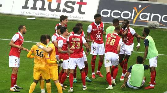 Reims will be playing in Ligue 1 next season. AFP