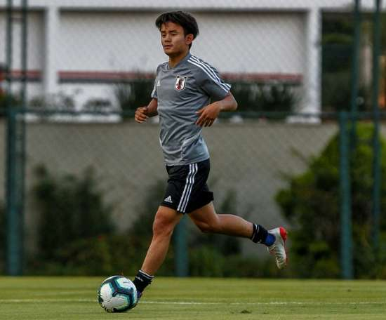 Takefusa Kubo has signed for Real Madrid. AFP