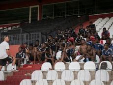 Des élèves de l'Académie de football du club congolais Tout-Puissant Mazembe, le 12 mai 2017. AFP