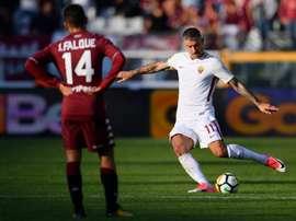 Frente ao Torino, foi Kolarov quem resolveu para a Roma. AFP