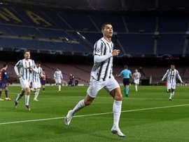 Cristiano Ronaldo é o goleador do Campeonato Italiano. AFP