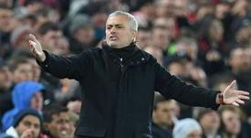 Mourinho habló de los objetivos del United. AFP
