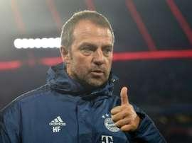 Flick está desempenhando um bom papel no Bayern. AFP