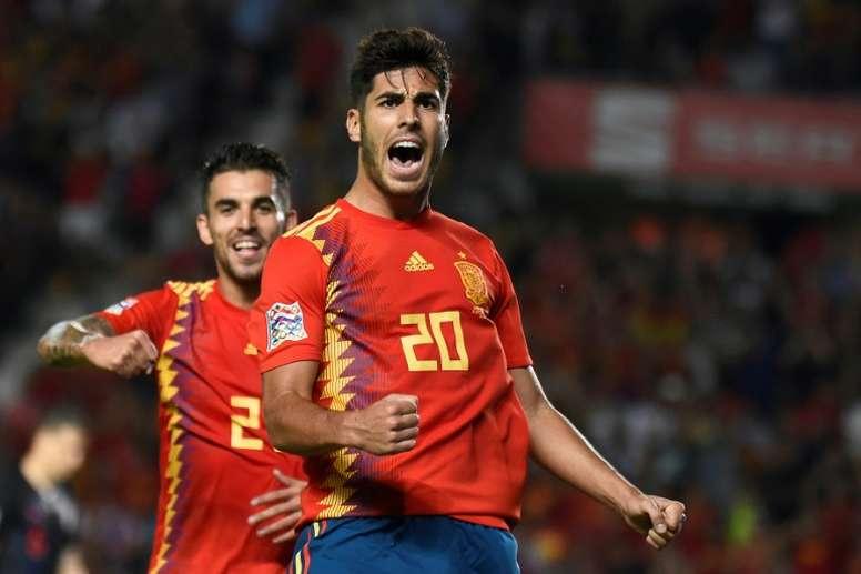 Asensio quiere mantener su buena racha goleadora. AFP