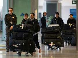 Les footballeurs du Wuhan Zall de retour en Chine et placés en isolement. AFP