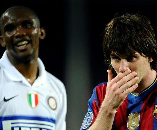 Samuel Eto'o deixou claro que prefere Mourinho. AFP