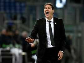 Rudi Garcia lors du match face à la Lazio Rome en Ligue Europa. AFP