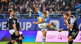 Ciro Immobile pode ter uma proposta multimilionária do Newcastle. AFP