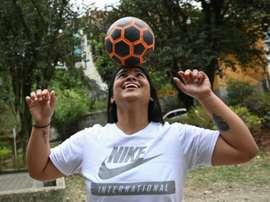 En Colombie, le ballon rond est roi, mais le foot féminin précaire. AFP
