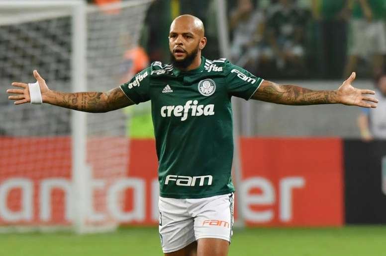 Felipe Melo renova com Palmeiras  por mais dois anos. AFP
