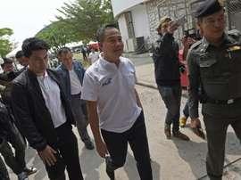 L'ex-chef de la police thaïlandaise, Poompanmoung, à la tête de la fédération de foot à Bangkok. AFP