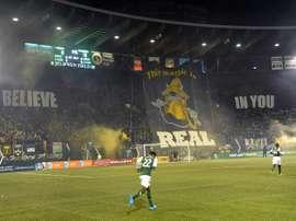 Des supporters de Portland lors d'un match de MLS en 2013 à Portland. AFP