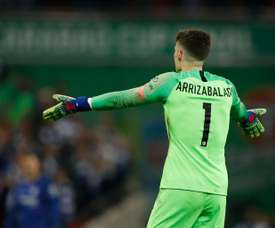 Kepa spoke about his links to Real Madrid. AFP