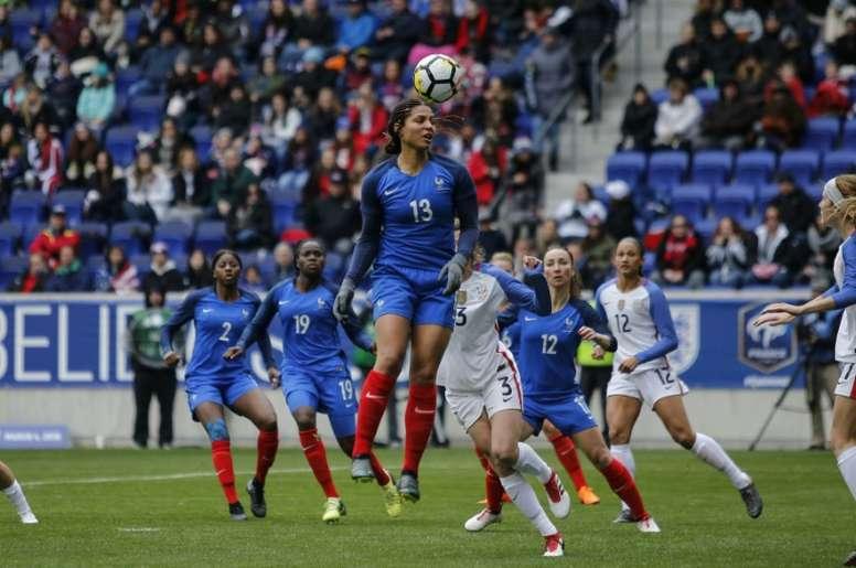La France a fait match nul contre les États-Unis. AFP