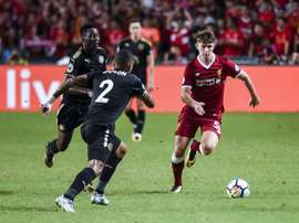 Woodburn in pre-season action for Liverpool. AFP