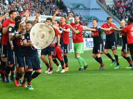 Bayern have won their sixth consecutive Bundesliga title. AFP