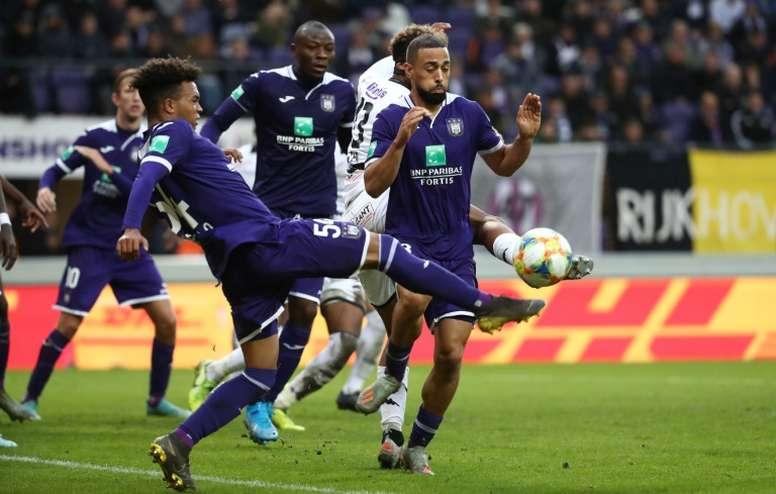 La Liga Belga, a punto de suspenderse sin terminar el campeonato. AFP/Archivo