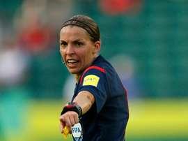 Stéphanie Frappart dirigerà Amiens-Strasburgo. AFP
