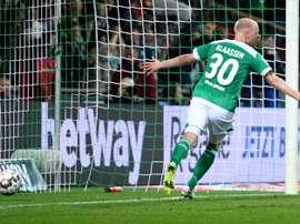 Davy Klaasen buteur lors de la victoire à domicile 2-0 face à Wolfsburg. AFP