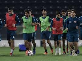 Les joueurs de léquipe du Qatar.