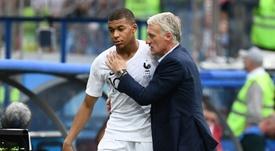 O PSG pediu para Mbappé ser poupado do jogo contra a Islândia. AFP