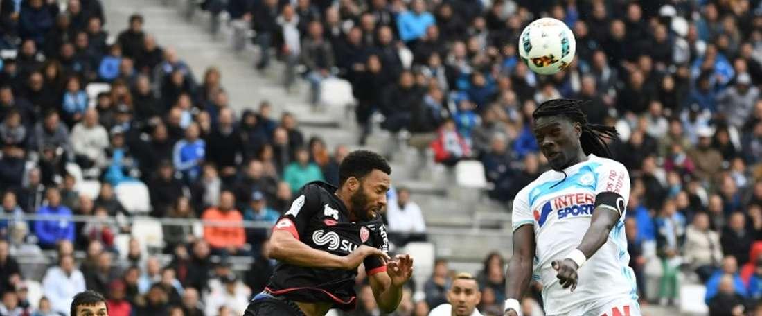 El Marsella no pasó del empate a un tanto. AFP