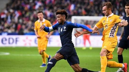 L'esterno francese del Bayern Monaco Kingsley Coman. AFP