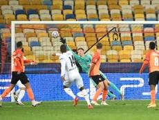 Triplé de Pléa avec Mönchengladbach contre le Shakhtar Donetsk. afp