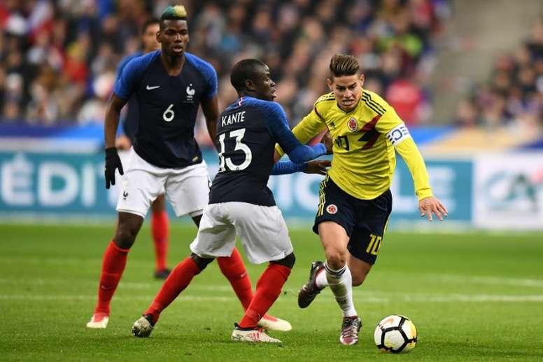 Se debate el futuro de Pogba y James. AFP