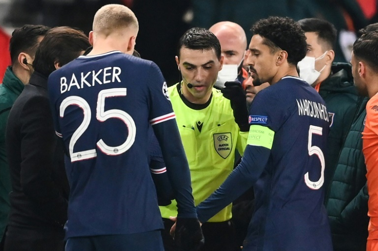 PSG, Istanbul Basaksehir players walk off after alleged racism by match official