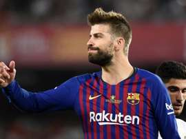 Pique will play his 500th for the club game on Sunday. AFP