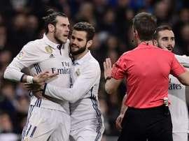 Bale foi expulso no jogo contra Las Palmas depois de uma briga com Viera. AFP