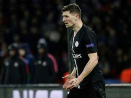 Meunier injured Hazard by mistake and that led to jokes. AFP