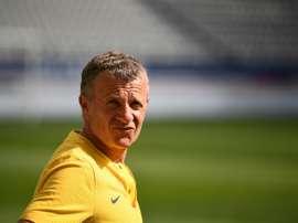 Patrice Lair, alors entraîneur du Paris-SG féminin, lors dun match de D1 face à Marseille. AFP