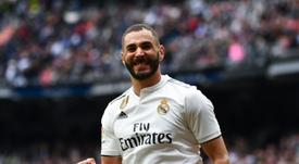 Karim Benzema ha sido reconocido como el mejor francés en el extranjero. AFP/Archivo