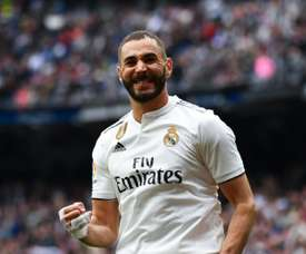 Benzema hunting down Van Nistelrooy's record. AFP
