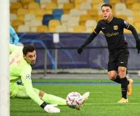 Dest rêve depuis tout petit de jouer pour le FC Barcelone. AFP