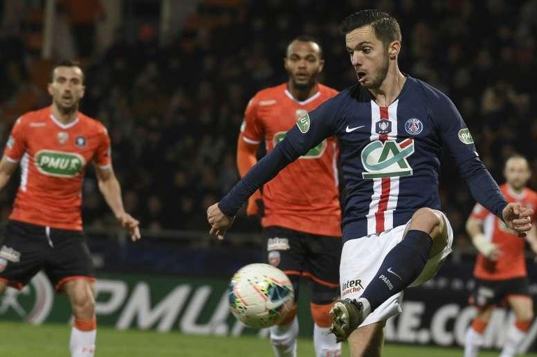El PSG venció por la mínima al Lorient. AFP
