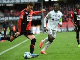 Adrien Hunou, de moins en moins par défaut à Rennes. AFP