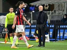 Ibrahimovic has spoken after the ugly scenes with Romelu Lukaku. AFP