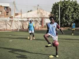 Coup d'envoi de la ligue féminine de football au Soudan. AFP