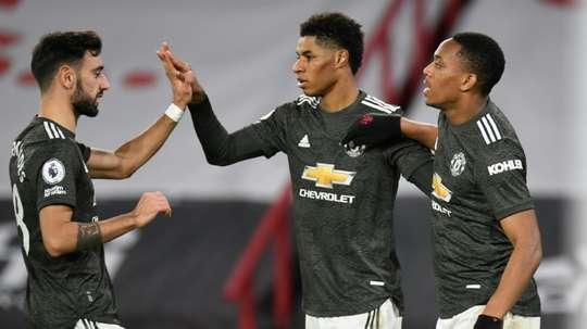 Liverpool laisse Manchester United à sa place de leader.afp