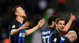 Lukaku pourrait arriver à l'Inter en échange de Perisic. AFP