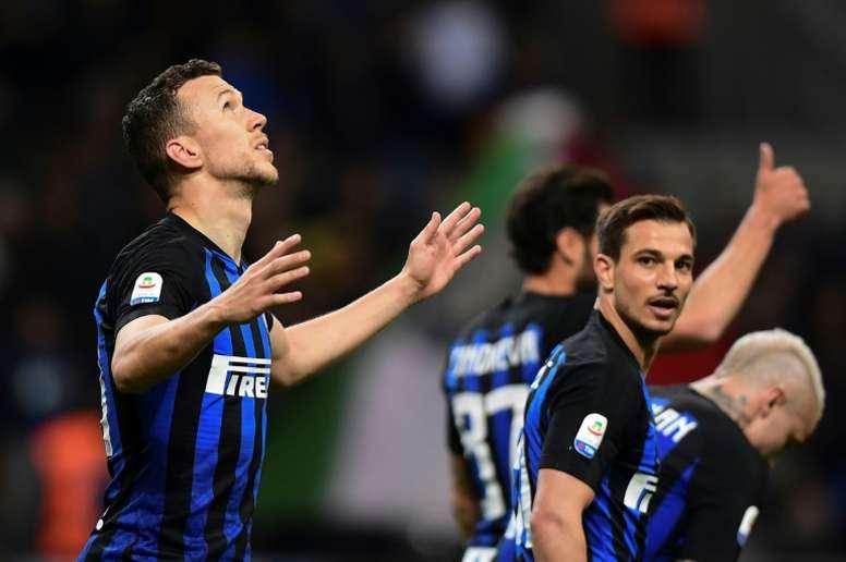 Lukaku podría llegar al Inter en un intercambio con Perisic. AFP