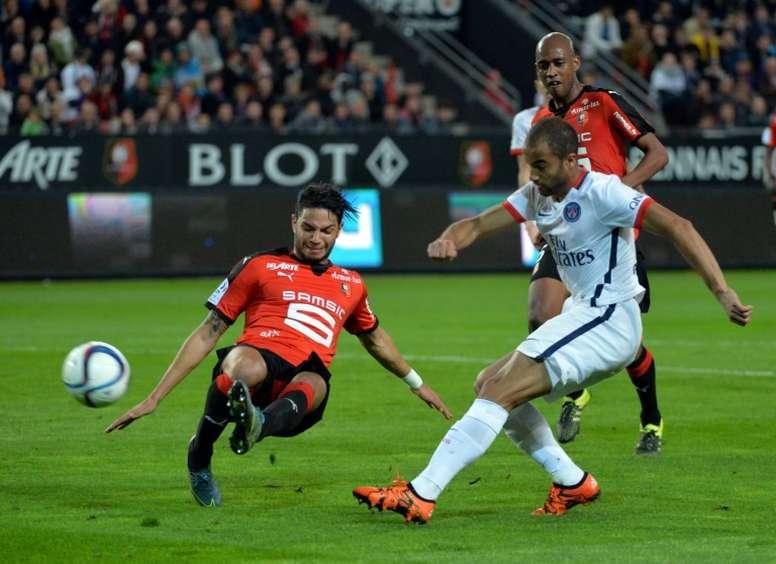 Las semifinales de la Copa de la Liga nos darán un Rennes-PSG. AFP/Archivo