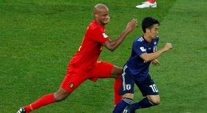 La Selección Belga eliminó a los nipones. AFP