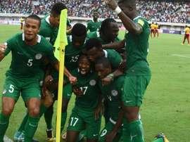 Les Nigerians, vainqueurs du Cameroun le 1er septembre 2017 à Uyo. AFP